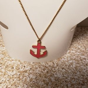 Jewelry - Pink and Gold Tone Anchor Necklace ⚓